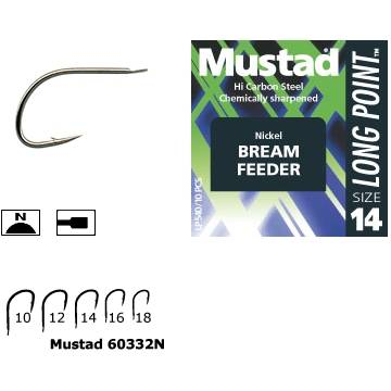 MUSTAD CIRLIG NICHEL,LONG POINT AS10.