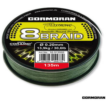 Fir de crap CORMORAN FIR CORASTRONG 8BRAID VERDE 035MM/31,8KG/135M