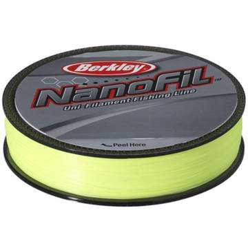 Fir pentru rapitori PURE FISHING FIR NANOFIL CHARTREUSE 015MM.7.7KG.125M BERKLEY
