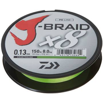 Fir pentru rapitori INDUSTRIAL ASSOCIATION J-BRAID X8 CHARTREUSE 010MM/6,0KG/150M