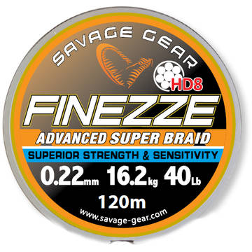 Fir pentru rapitori SAVAGE GEAR FIR TEXTIL FINEZZE HD8 022MM/18,2KG 120M