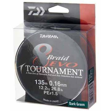 Fir pentru rapitori DAIWA FIR TOURNAMENT X8 EVO DARK GREEN 018MM/15,8KG/300M