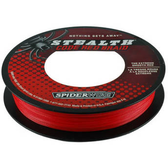 Fir pentru rapitori PURE FISHING FIR NEW STEALTH RED 014MM 10,2KG 110M