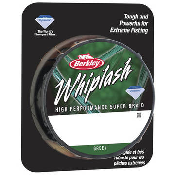 Fir pentru rapitori PURE FISHING FIR NEW WHIPLASH VERDE 006MM 10,6KG 110M BERKLEY
