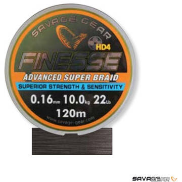 Fir pentru rapitori SAVAGE GEAR FIR TEXTIL FINESSE YELLOW 010MM.6KG 120M