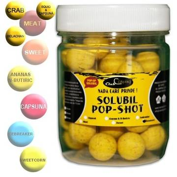Momeala de carlig ARROW BOILIES POP-UP SOLUBIL MEAT SQUID&CAPSUNA 16MM
